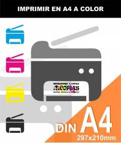 Imprimir en COLOR A4