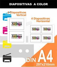 Diapositivas a COLOR A4