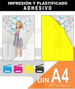 Plastificado ADHESIVO A4