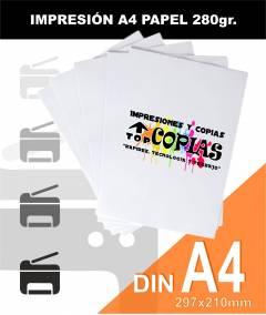 Impresión papel A4 280gr
