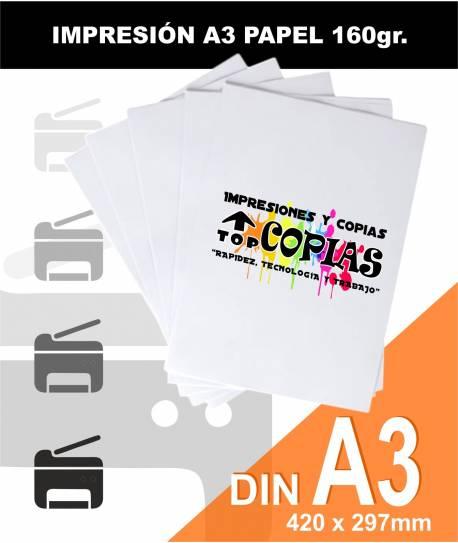 Impresión papel A3 160gr