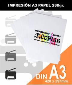 Impresión papel A3 280gr