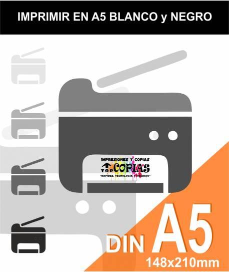 Imprimir folio A5 en blanco y negro