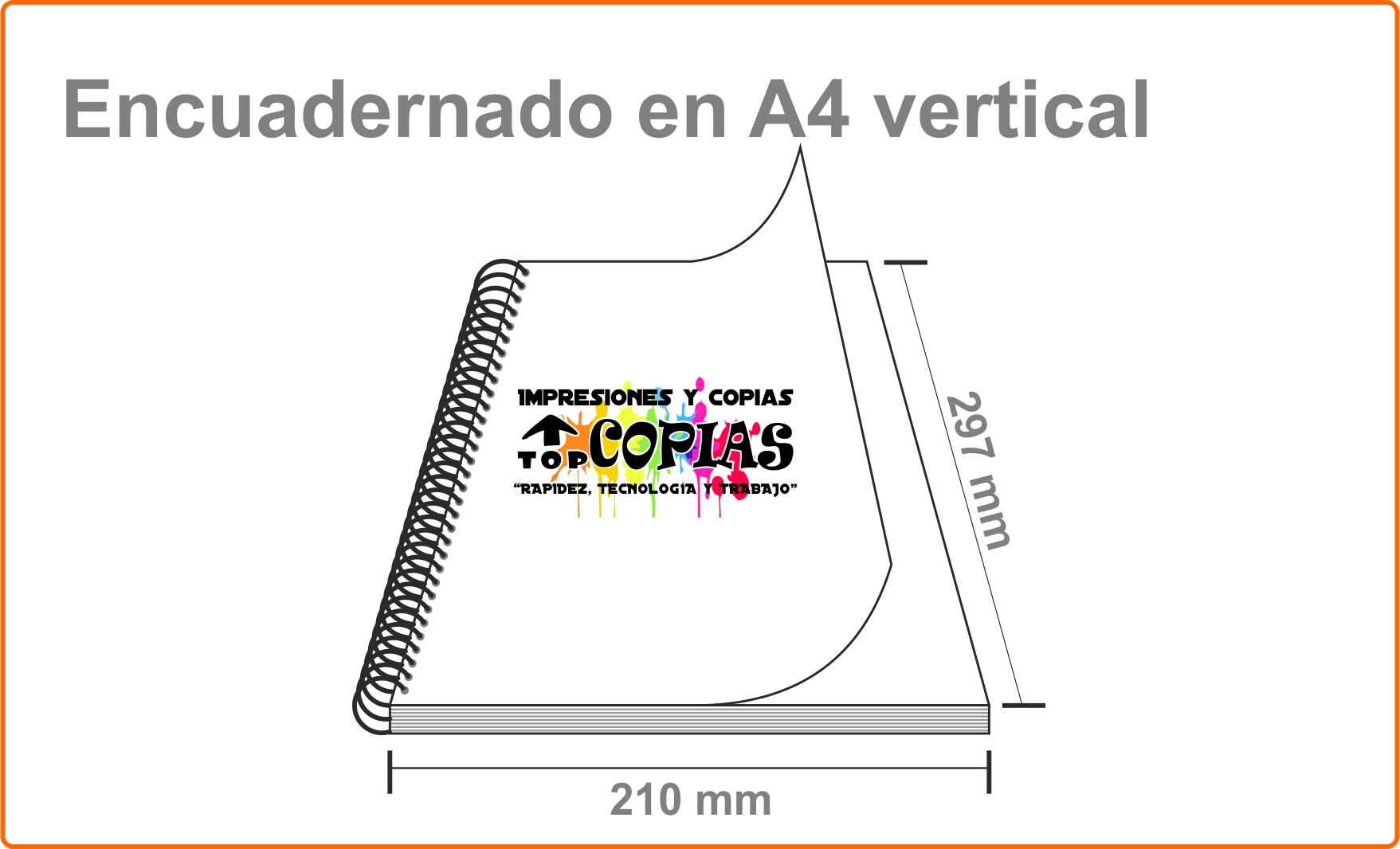 Encuadernado vertical